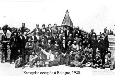 Occupation d'usine à Bologne en 1920