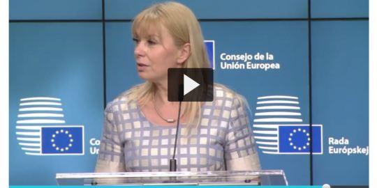 EU commissioner Elżbieta Bieńkowska at EU competitiveness Council 29-05-17