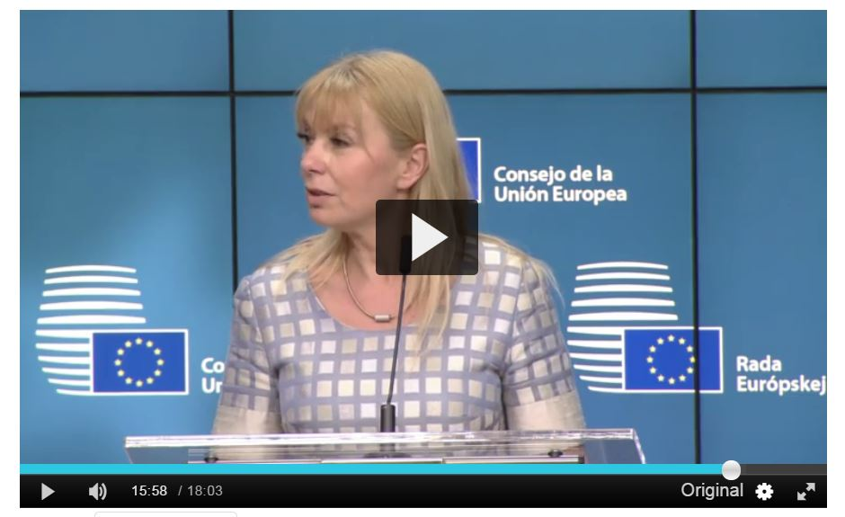 EU commissioner Elżbieta Bieńkowska at EU competitiveness Council 29-05-17