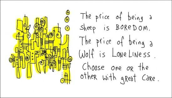 Wolves vs Sheep Illustration