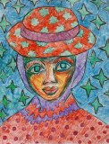 girl with a flower hat