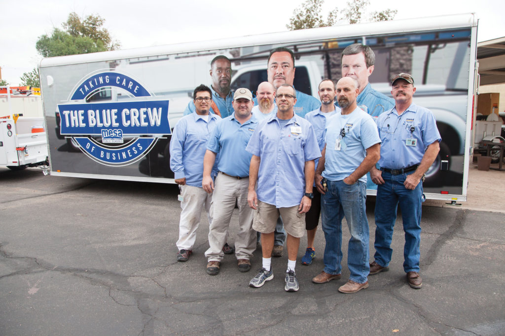 Go behind the scenes with the Blue Crew
