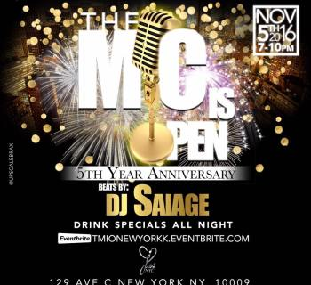 [Featured Event] The Mic Is Open - 5th Year Anniversary