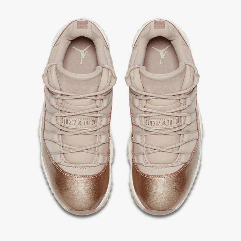 Air Jordan 11 Retro Low GG Rose Gold upper