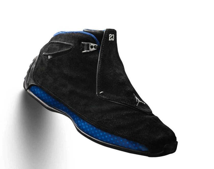 Air Jordan 18 Black Sport Royal with great inventive design