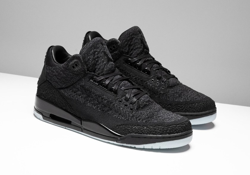 Air Jordan 3 Flyknit Black and dark anthracite