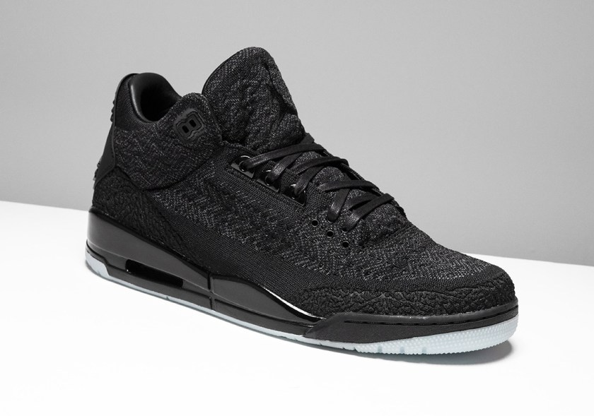 Air Jordan 3 Flyknit Black with flyknit makeover