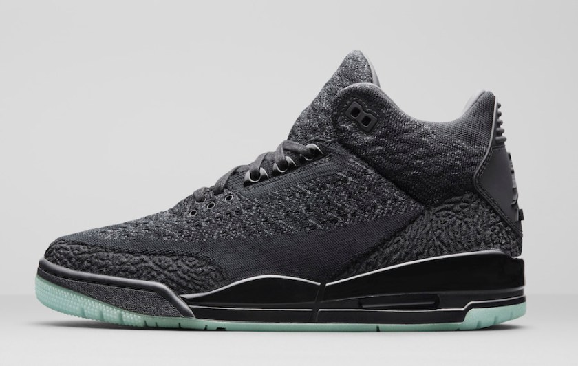 Air Jordan 3 Flyknit Black with Inventive design
