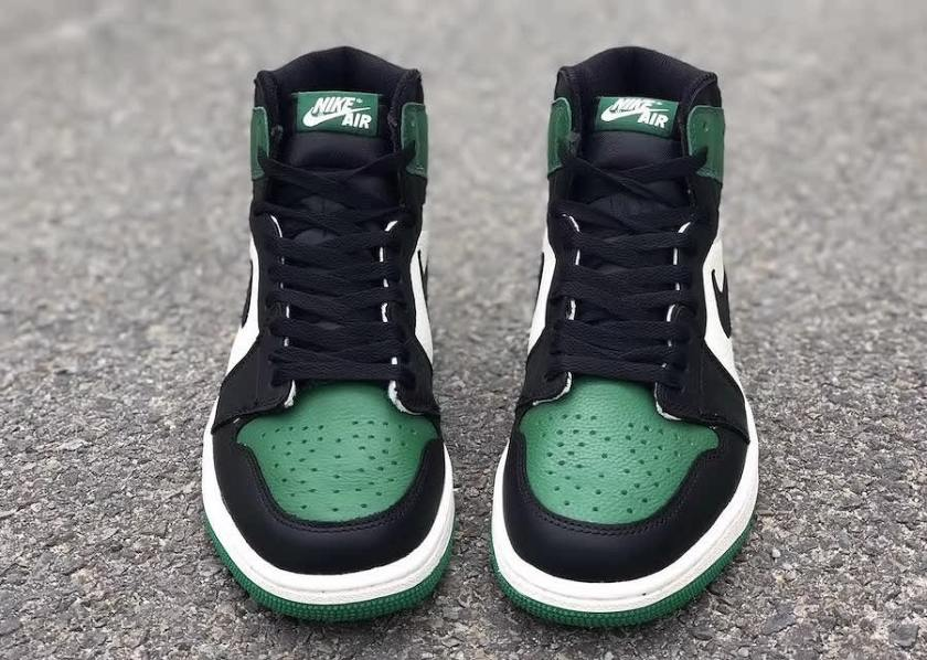 Air Jordan 1 Pine Green with sophisticated appearance