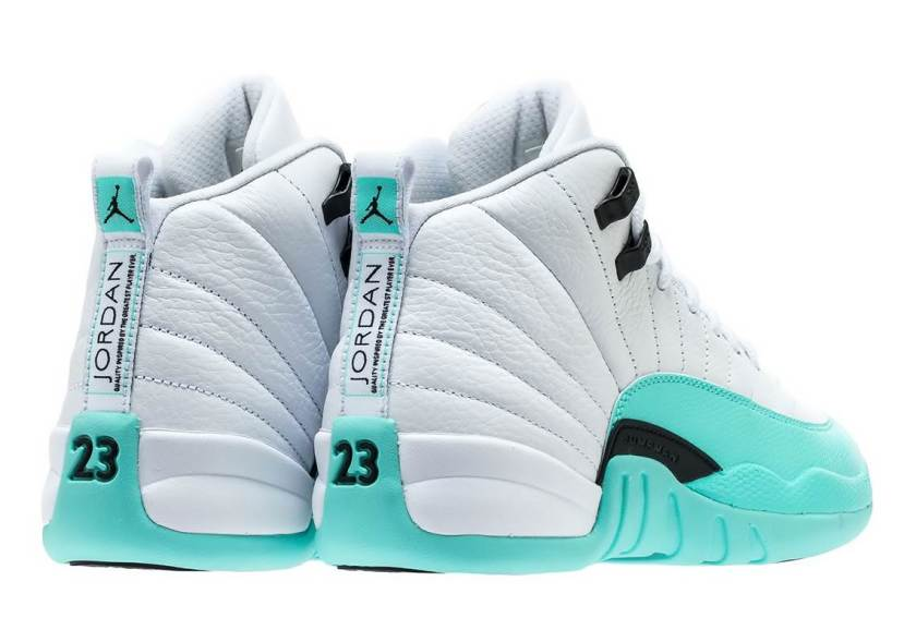 Air Jordan 12 GS Light Aqua with the soothing and mesmerizing shade