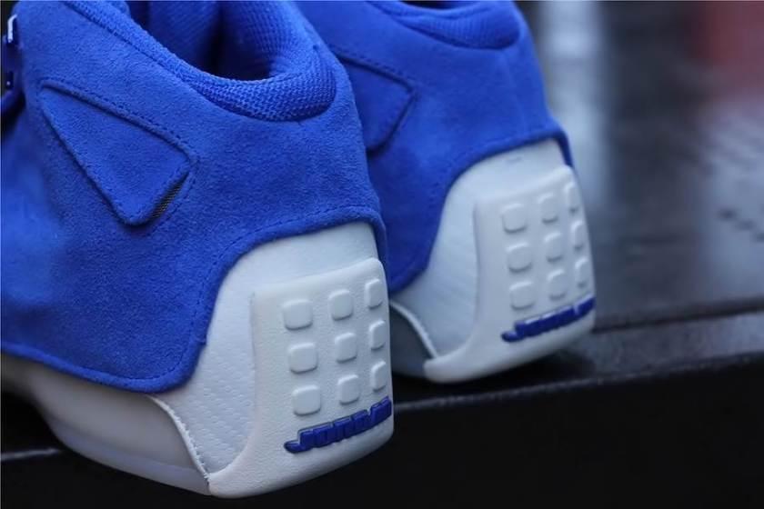 Air Jordan 18 Blue Suede with Comfort fittings