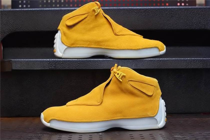 Air Jordan 18 Yellow Suede with Impressive design and built