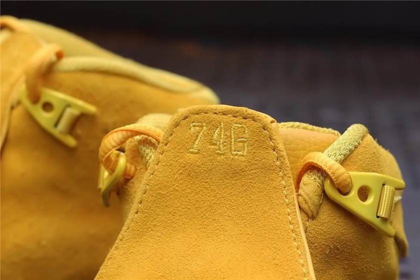 Air Jordan 18 Yellow Suede with bold appearance