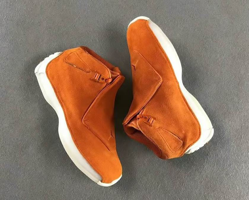 Air Jordan 18 bright orange suede