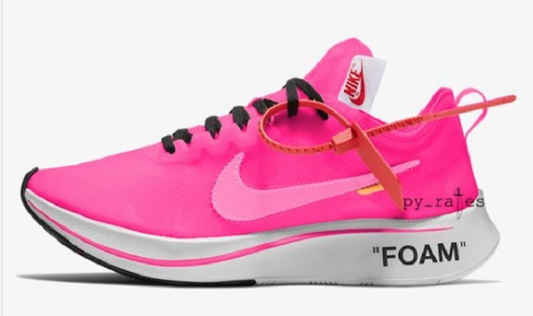 Off-White + Nike Zoom Fly SP with extremely lightweight