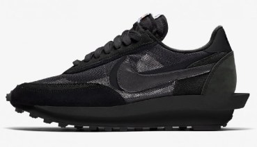 "Sacai x Nike LDWaffle in ""Triple Black"""