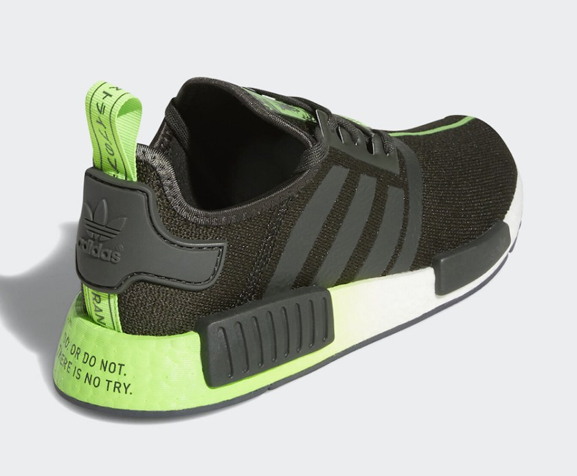 Adidas NMD R1 Yoda with Neon Green and White