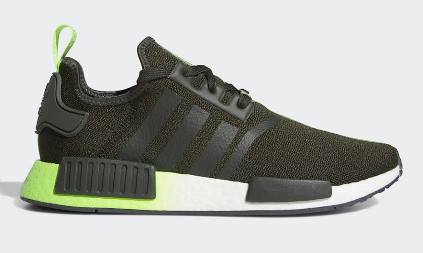 Adidas NMD R1 Yoda with rapidly growing