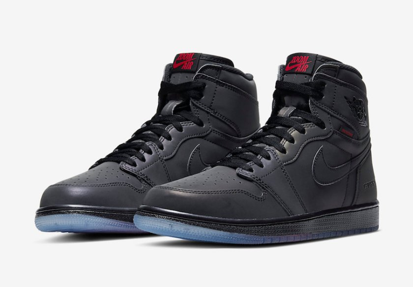Air Jordan 1 High Zoom Fearless with blue transparent color