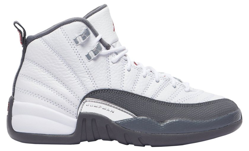 Air Jordan 12 White Grey with great for basketball
