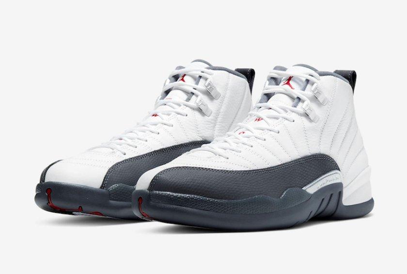 Air Jordan 12 White Grey with lifestyle wear
