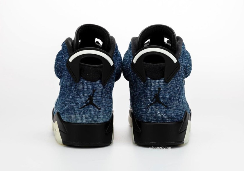 Air Jordan 6 Washed Denim with midsole