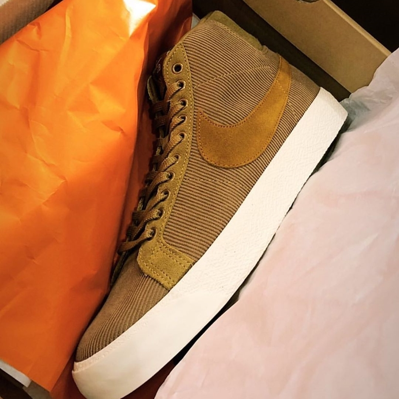 Nike SB Blazer with suede is the primary material
