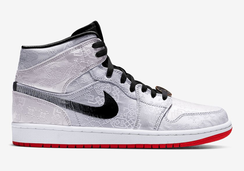 Air Jordan 1 Mid Fearless with Tender materials