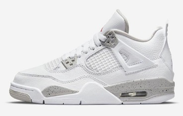 Air Jordan 4 White Oreo (Tech Grey)