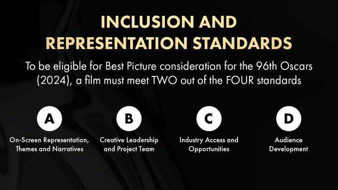 Academy's inclusion and representation standards thoughts