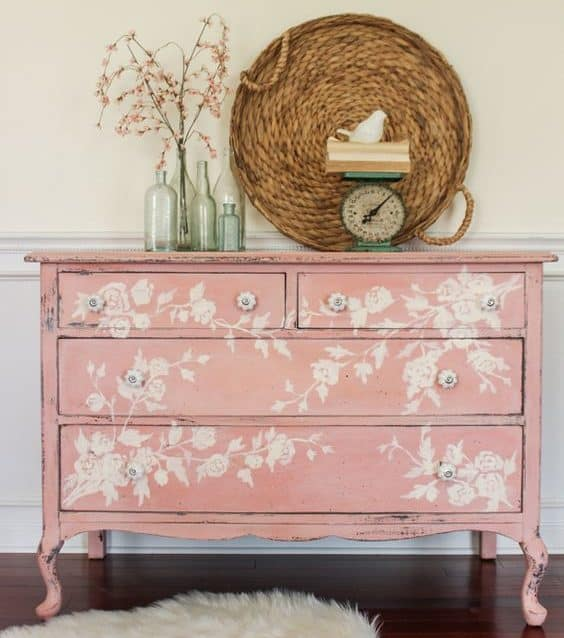 sideboard Upcycle Ideas stencils