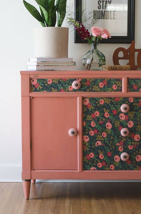 sideboard upcycle ideas decoupage