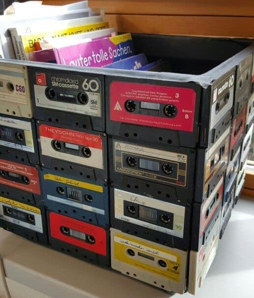 casette tape storage box