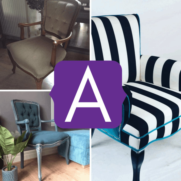 upcycled armchair