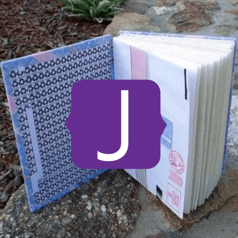 Upcycled Junk Mail to notebook