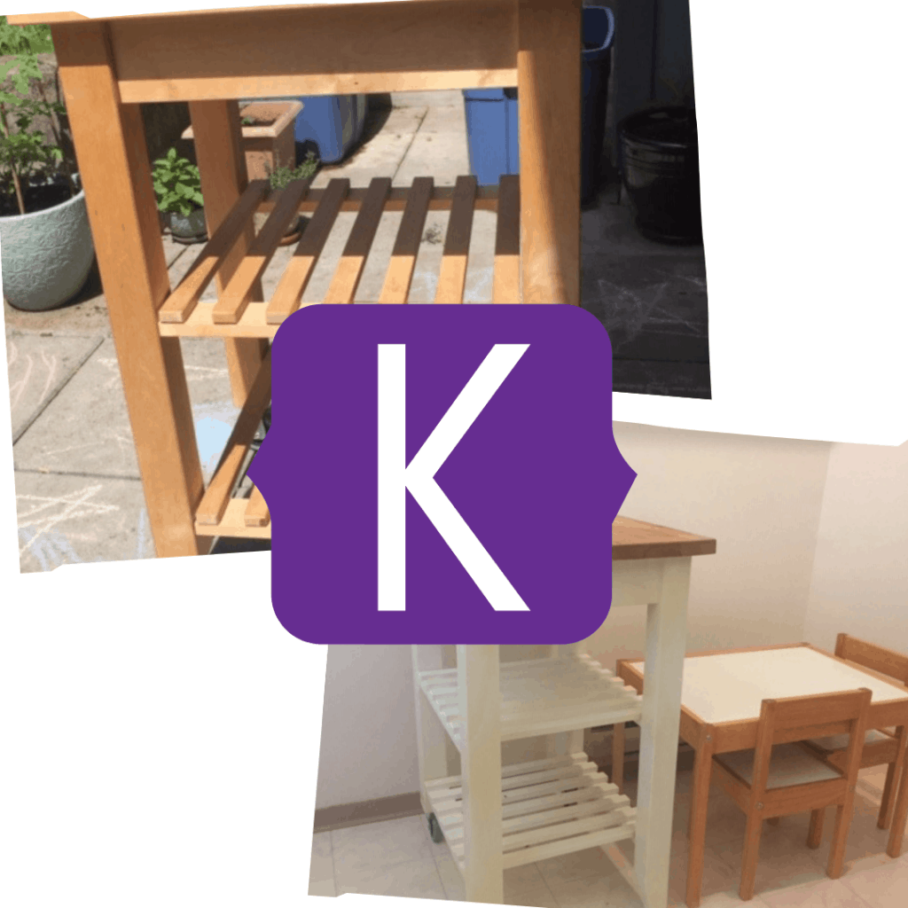 upcycled kitchen trolley