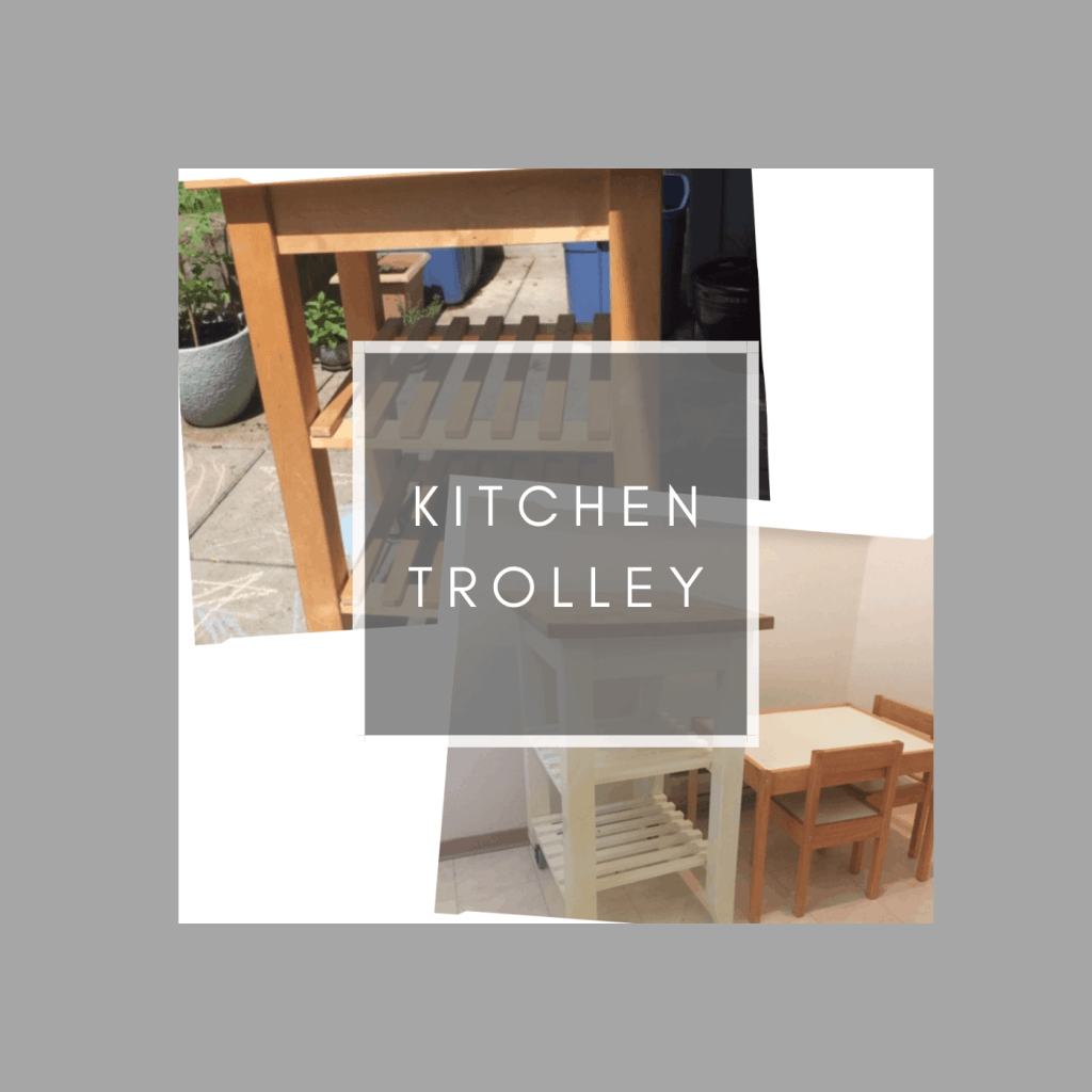 how to upcycle a kitchen trolley