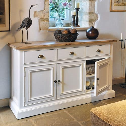farmhouse chic sideboard upcycle idea