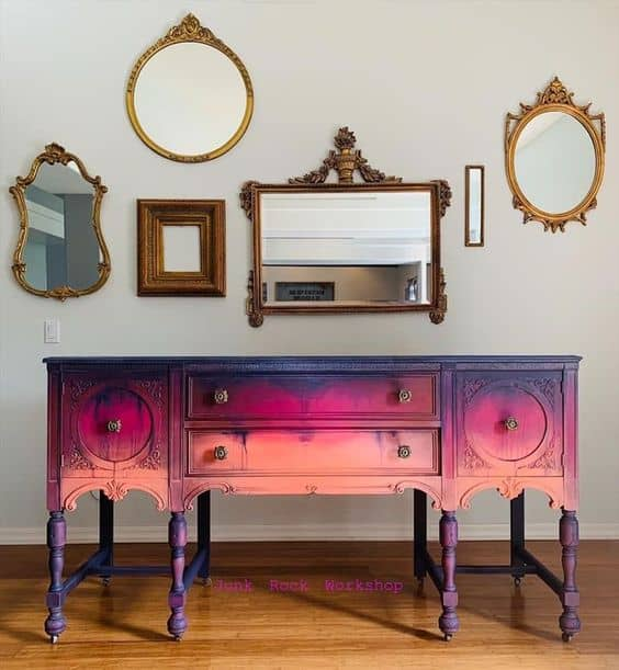 sideboard Upcycle Ideas ombre