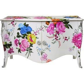 flower transfer sideboard upcycle