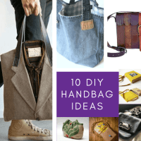 DIY Handbag Ideas - 10 Upcycled Bags you can Make Yourself