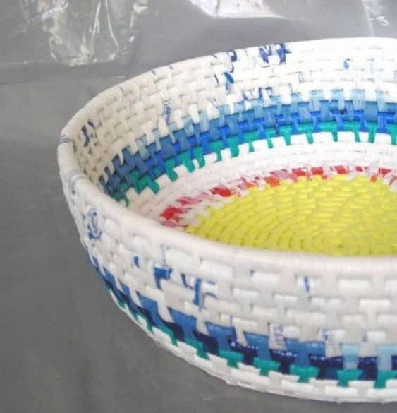 diy plastic bag basket