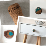 drawer pulls made from Prosecco corks