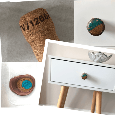 How to Upcycle Prosecco Corks into Drawer Pulls