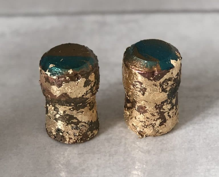 gold leaf diy drawer pulls