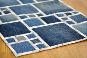blanket from scraps of denim
