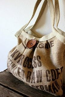 handbag made from coffee sac