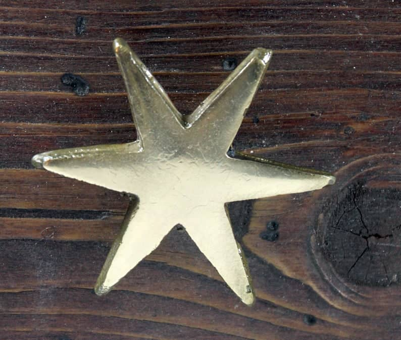 multi point gold star handles
