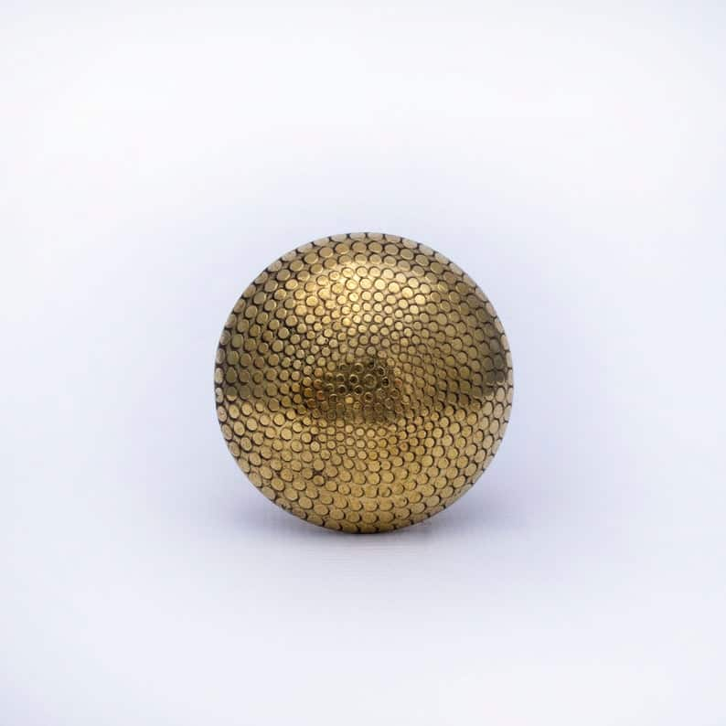 gold patterned drawer knob