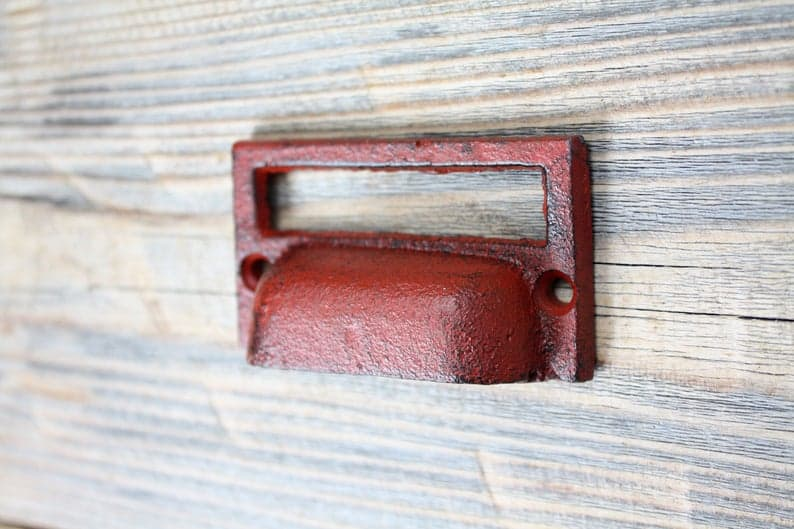 cast iron file holder drawer pull